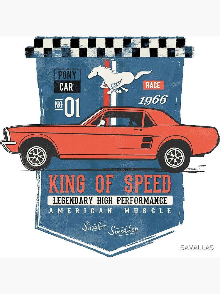 Ford Mustang - King Of Speed von SAVALLAS
