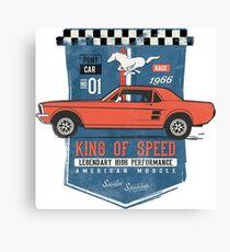 Ford Mustang - King Of Speed Leinwanddruck