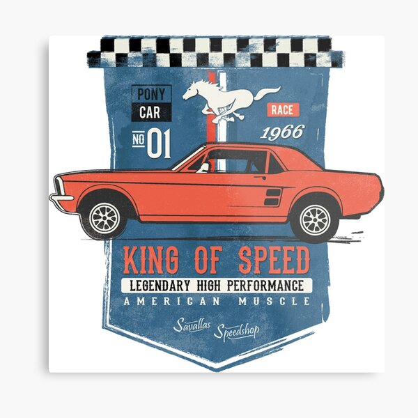 Ford Mustang - King of Speed Metal Print