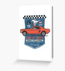 Ford Mustang - King Of Speed Grußkarte