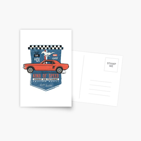 Ford Mustang - King of Speed Postcard