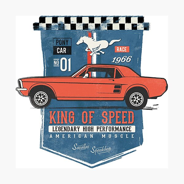 Ford Mustang - King of Speed Photographic Print