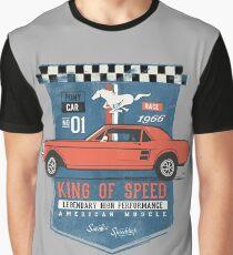 Ford Mustang - King Of Speed Grafik T-Shirt