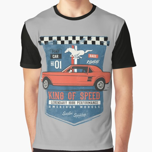 Ford Mustang - King of Speed Graphic T-Shirt