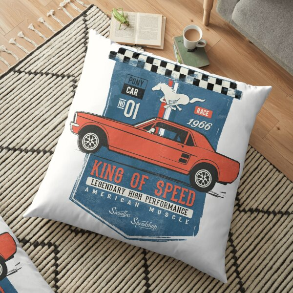 Ford Mustang - King of Speed Floor Pillow