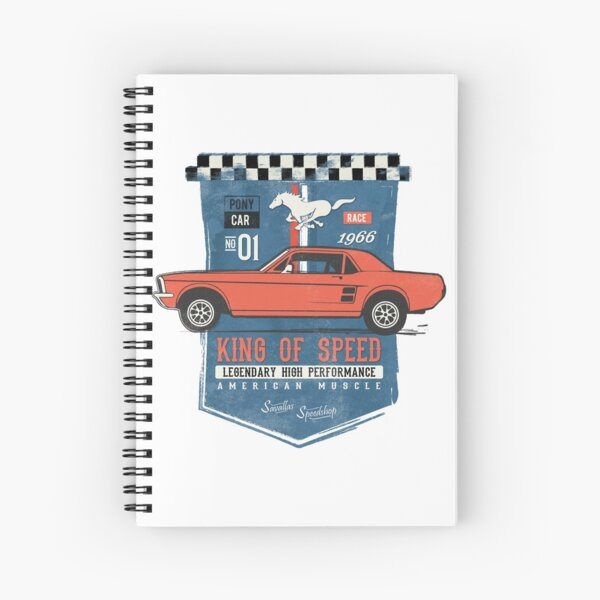 Ford Mustang - King of Speed Spiral Notebook