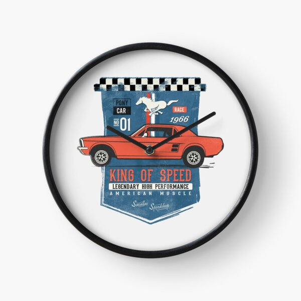 Ford Mustang - King of Speed Clock