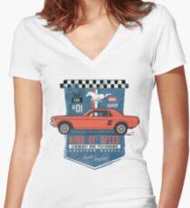 Ford Mustang - King Of Speed Tailliertes T-Shirt mit V-Ausschnitt