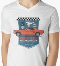 Ford Mustang - King Of Speed T-Shirt mit V-Ausschnitt
