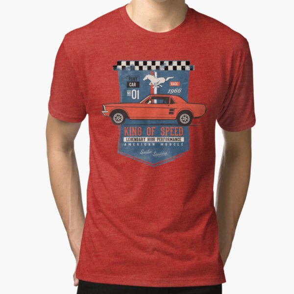 Ford Mustang - King of Speed Tri-blend T-Shirt