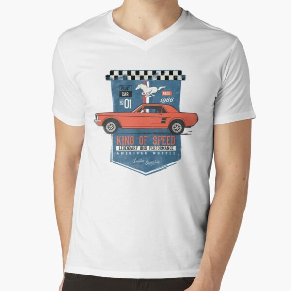Ford Mustang - King of Speed V-Neck T-Shirt