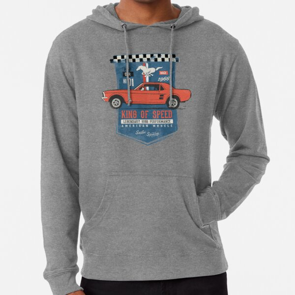 Ford Mustang - King of Speed Lightweight Hoodie