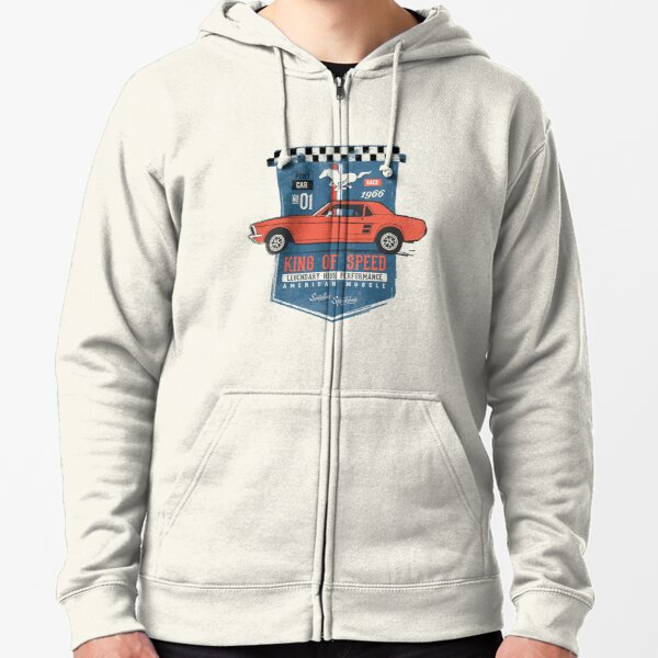 Ford Mustang - King of Speed Zipped Hoodie