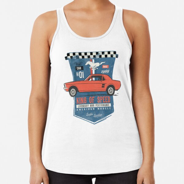 Ford Mustang - King of Speed Racerback Tank Top