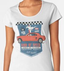 Ford Mustang - King Of Speed Premium Rundhals-Shirt