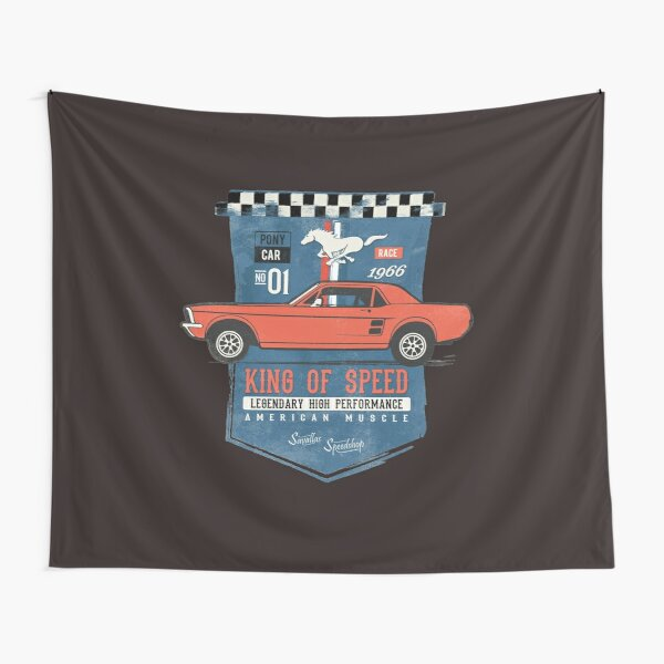 Ford Mustang - King of Speed Tapestry
