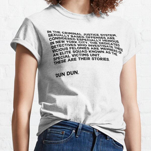 law and order svu intro Classic T-Shirt