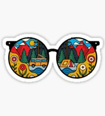 Hippie Sunglasses [MS02] Sticker