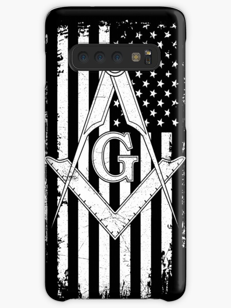 'Masonic American Flag Square and Compass - Freemason ' Case/Skin for  Samsung Galaxy by LewisDesignCo