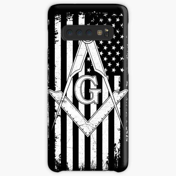 Masonic American Flag Square and Compass - Freemason  Samsung Galaxy Snap Case