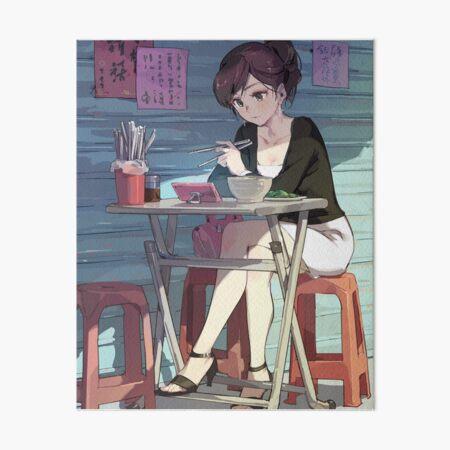 Ramen With Sensei Art Board Print