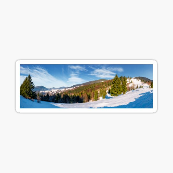 gorgeous panorama of winter countryside  Sticker