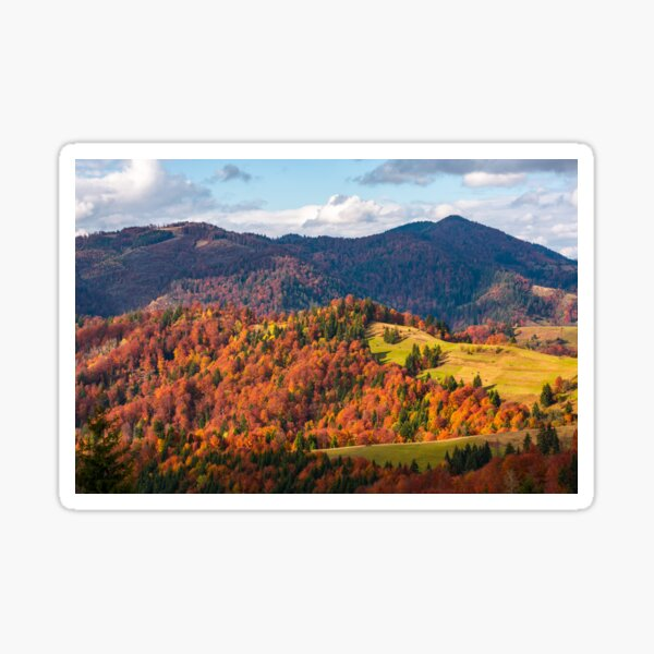 rural countryside in autumn Sticker