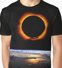 Solar Eclipse from above the earth 2 Graphic T-Shirt