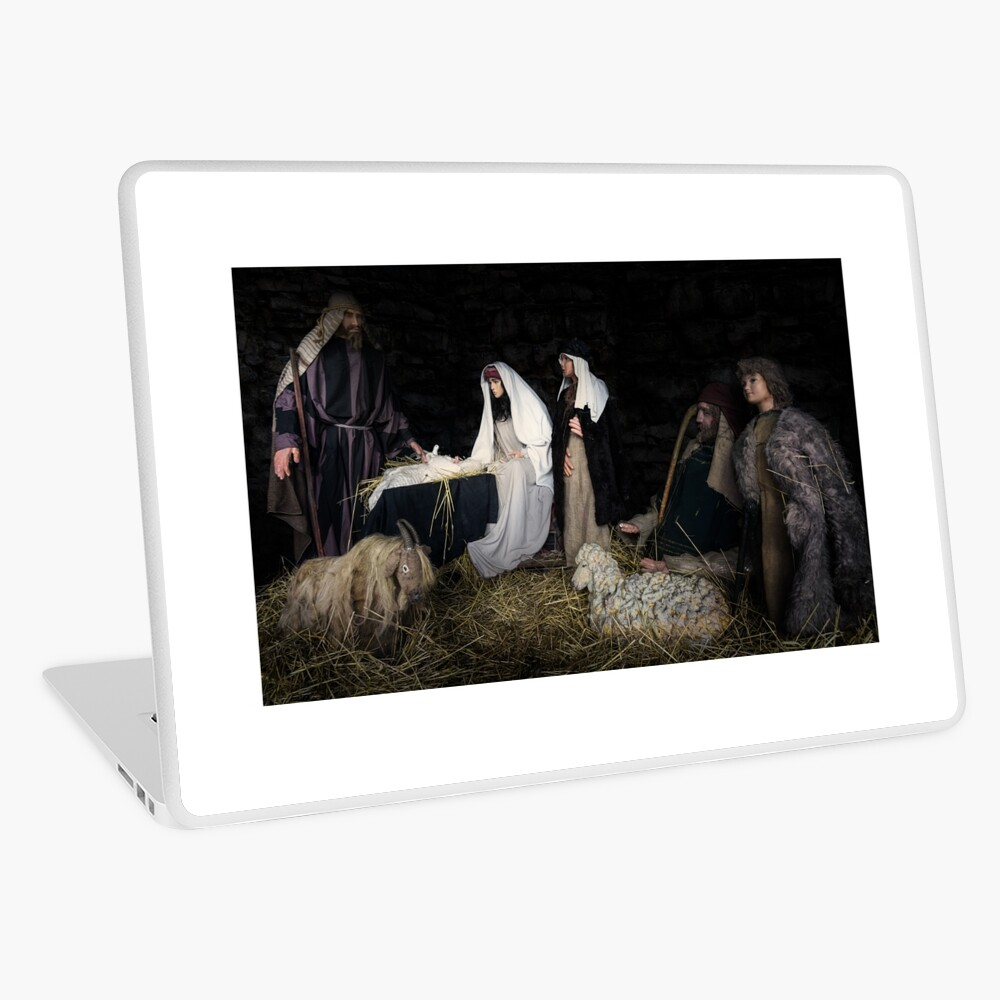 birth of Christ scene from the bible Laptop Skin