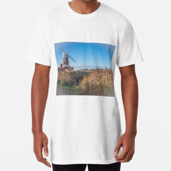 Cley Next The Sea Windmill  Long T-Shirt