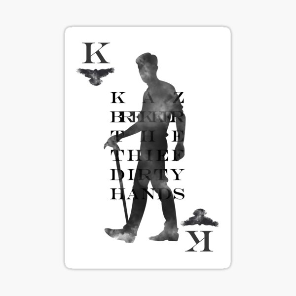 Kaz Brekker playing card Sticker