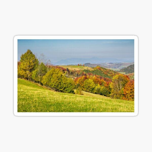forested rural hillsides in autumn Sticker