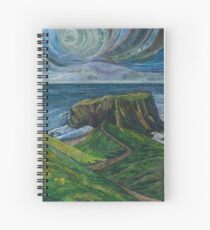 To the Very Edge - Coastal Path Embroidery - Textile Art Spiral Notebook