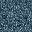 indigo bloom // repeat pattern by lauragraves
