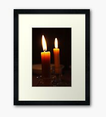 Candle Light Framed Print