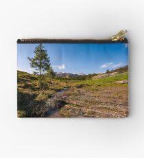 Carpathian alpine countryside in springtime Studio Pouch