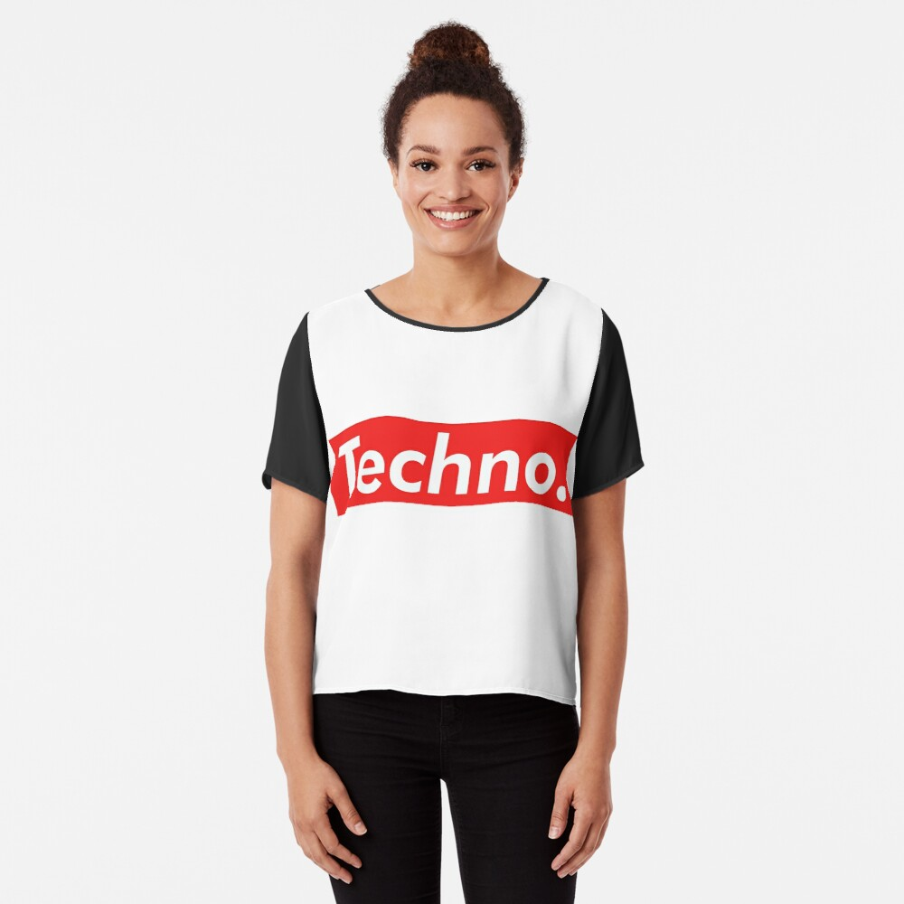Techno Supreme Parody - Funny Supreme Parody Sticker T-Shirt Pillow Blusa
