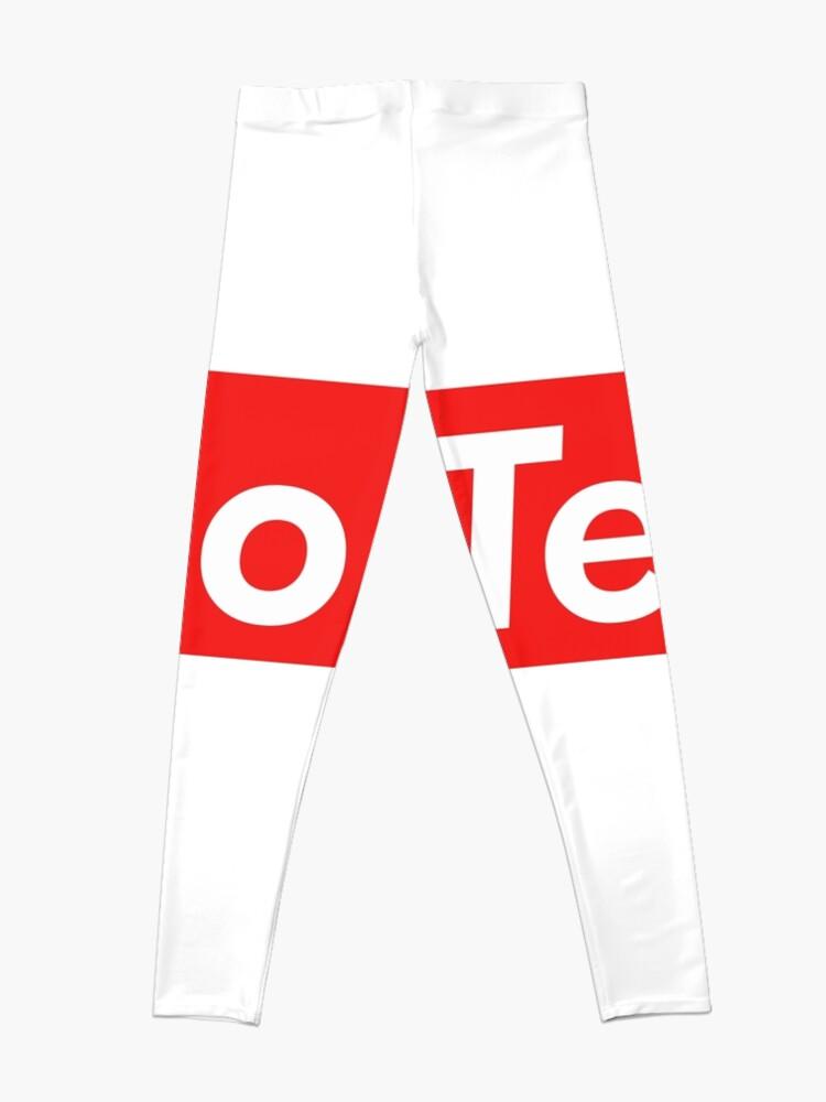 Vista alternativa de Leggings Techno Supreme Parody - Funny Supreme Parody Sticker T-Shirt Pillow