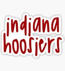 Indiana Hoosiers Red Sticker