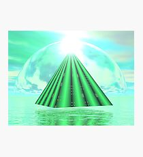 Mystical Pyramid - 3D Render Photographic Print