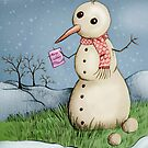 Snowman recieving a Christmas card by Extreme-Fantasy