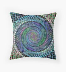 Multicolor fractal spiral background Throw Pillow
