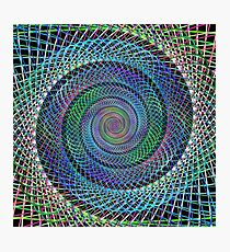Multicolor fractal spiral background Photographic Print