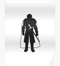 Robb Stark - Game of Thrones Silhouette  Poster