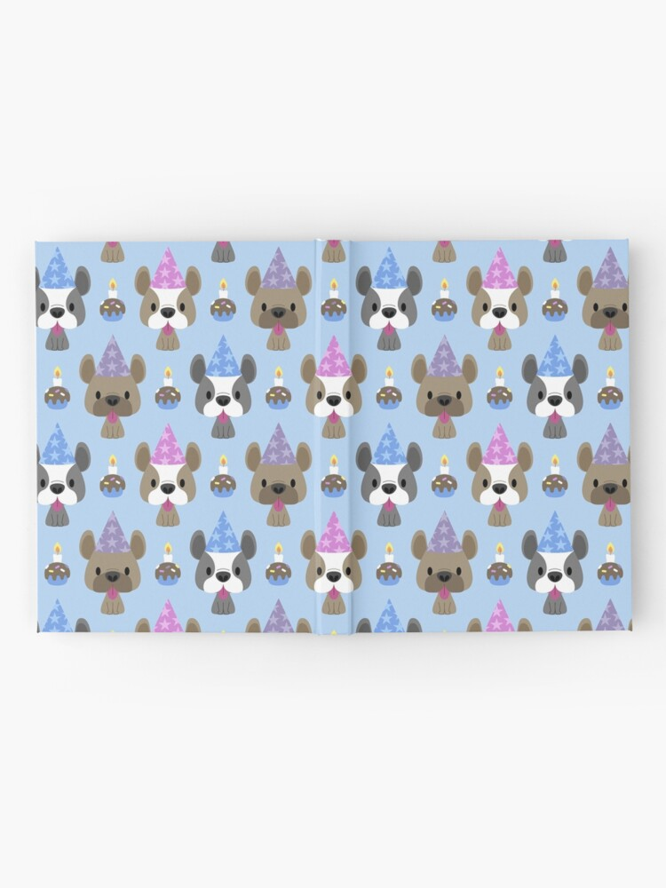 Alternate view of Birthday party for French bulldogs Hardcover Journal