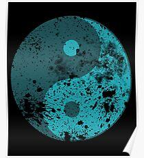 Splatter Yin Yang symbol Poster
