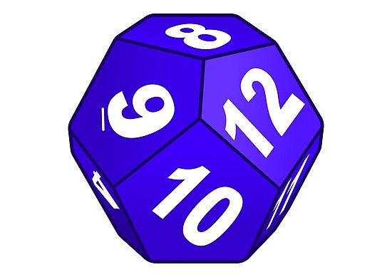 Image result for 12 sided dice art