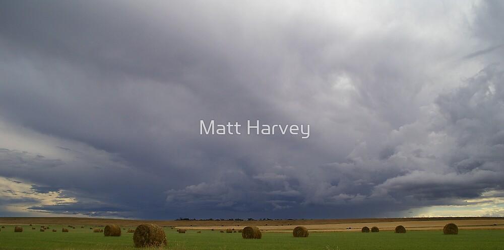 Hay Bale Storm by Matt Harvey