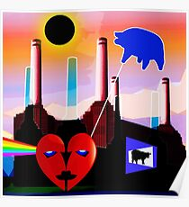 PINK FLOYD ECLIPSED BATTERSEA Poster