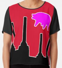 PINK FLOYD FLYING PIG OVER BATTERSEA Chiffon Top